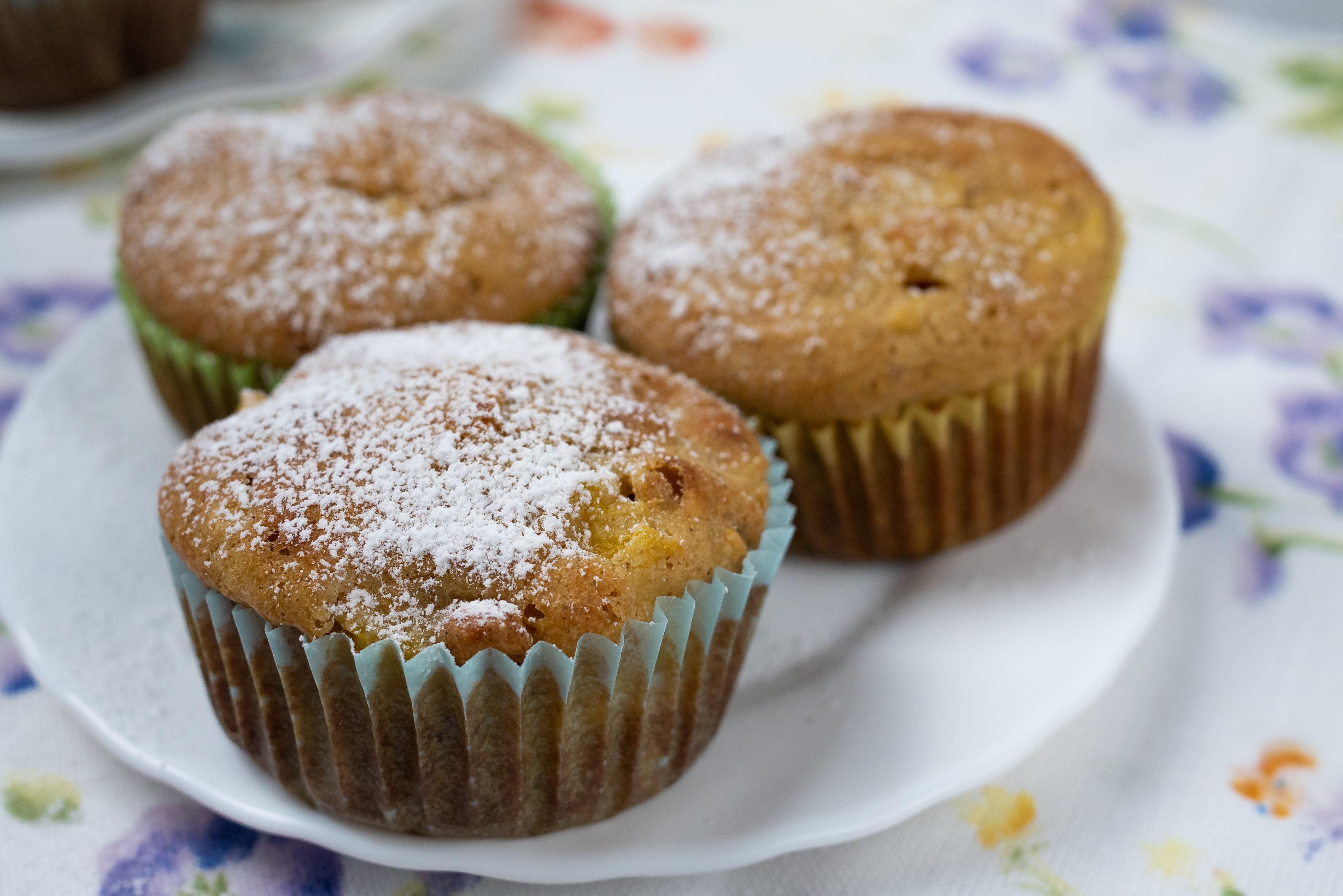 Bezglutenowe muffiny z mango