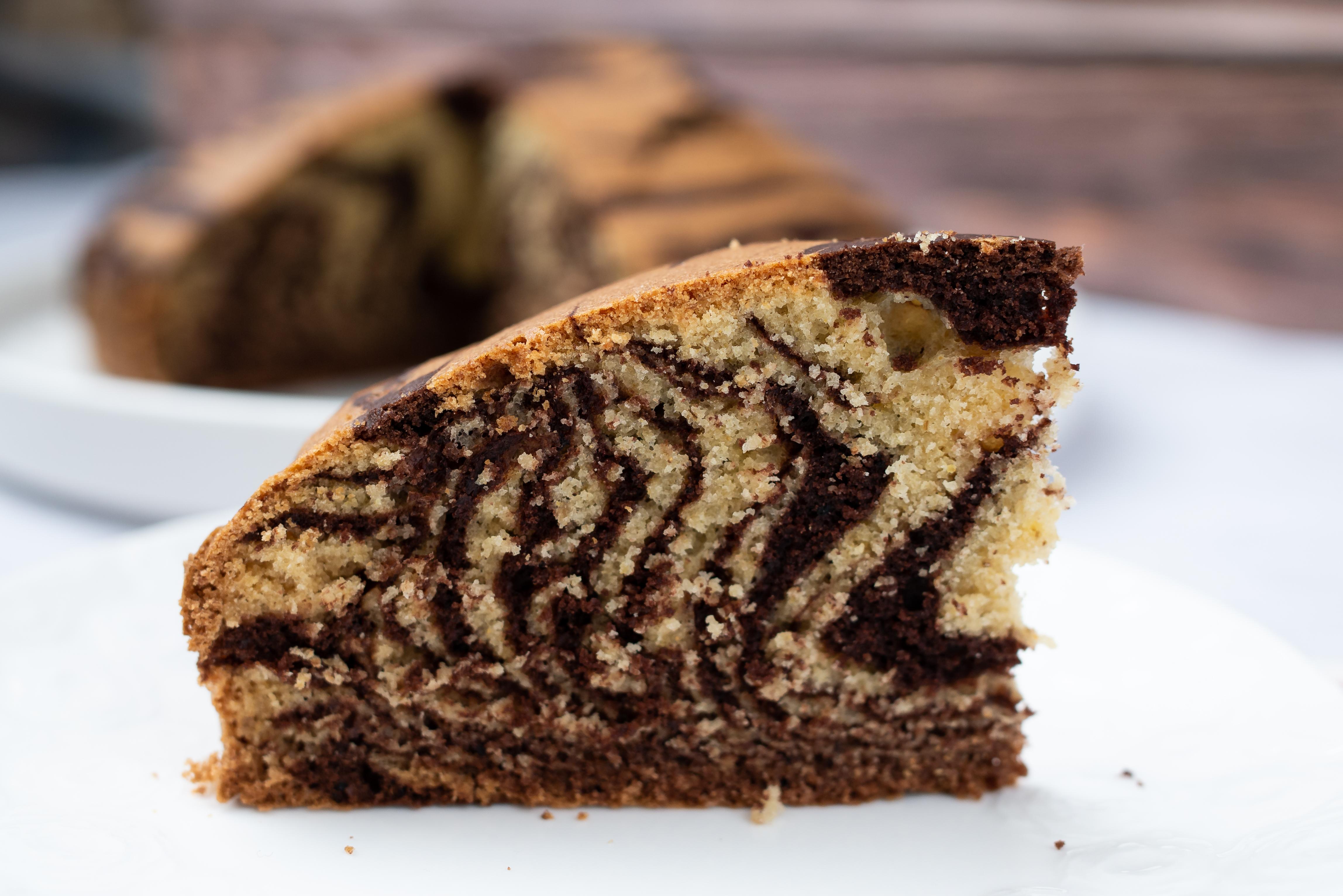 Bezglutenowe ciasto zebra