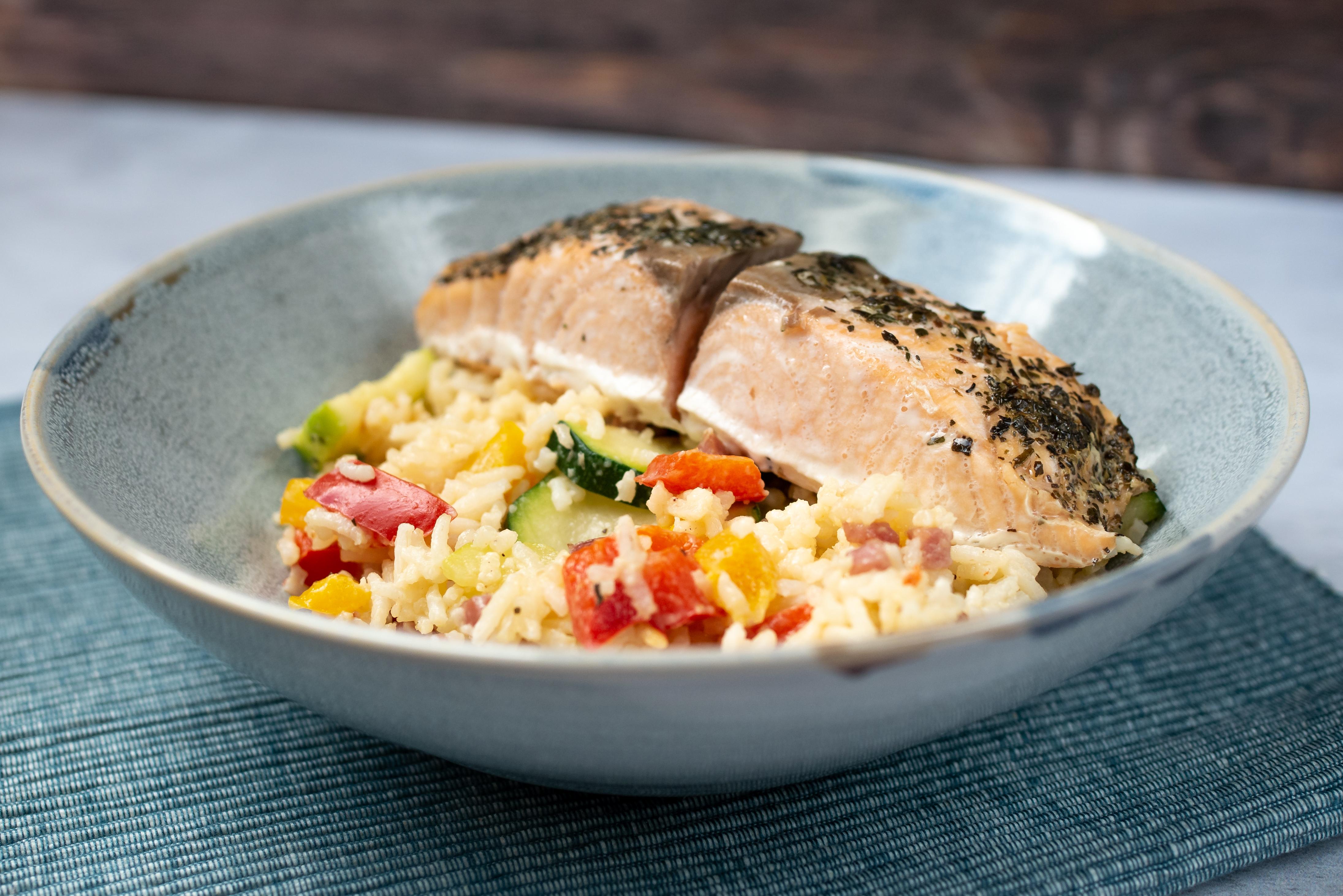 Ryż z boczkiem i warzywami