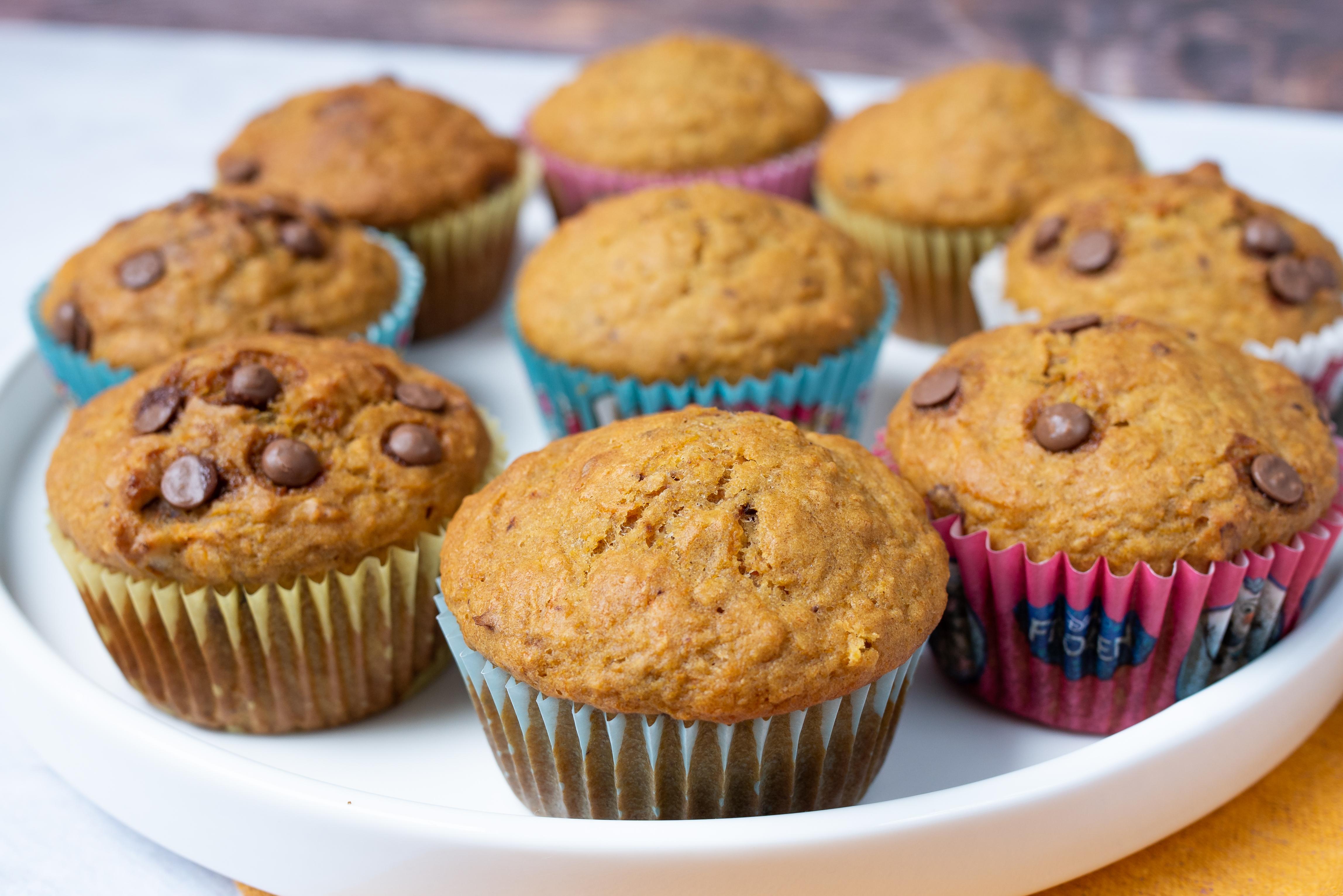 Bezglutenowe muffiny z marchewką i orzechami