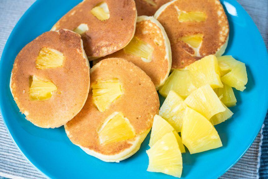 Bezglutenowe placuszki z ananasem