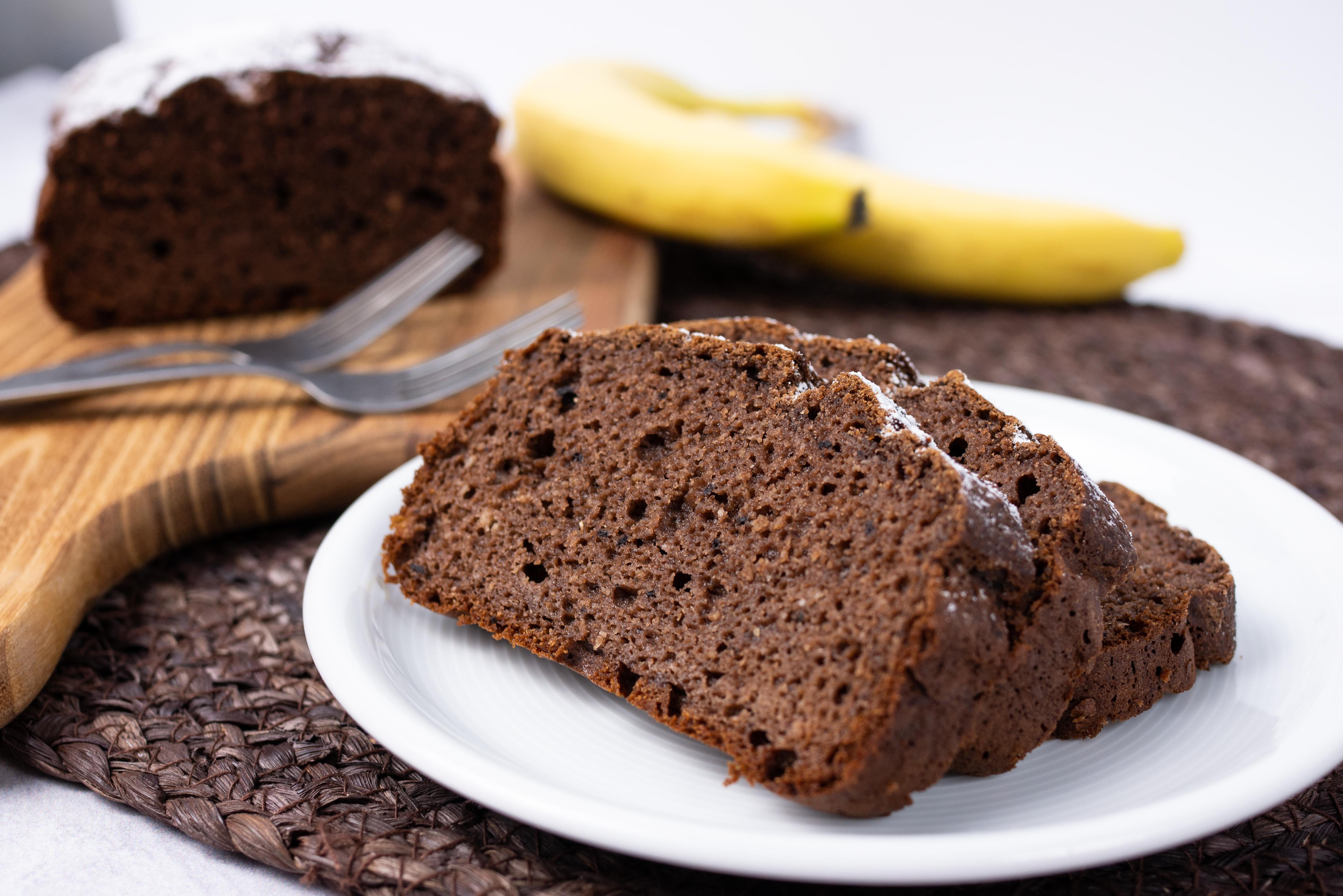 Bezglutenowe ciasto bananowo – kakaowe