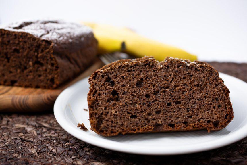 bezglutenowe ciasto bananwo kakaowe