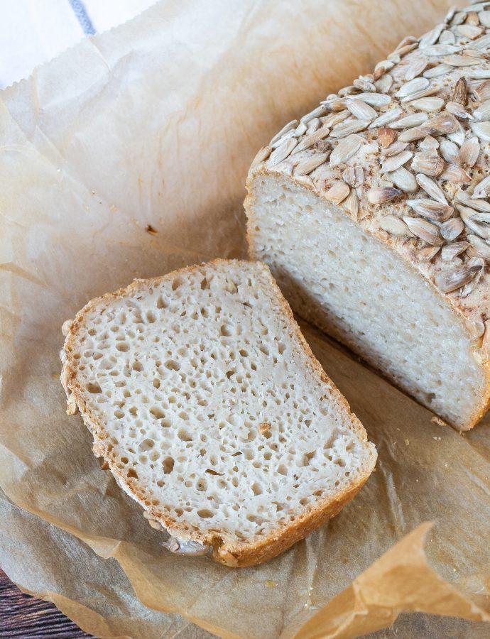 Bezglutenowy chleb na zakwasie gryczano ryżowym