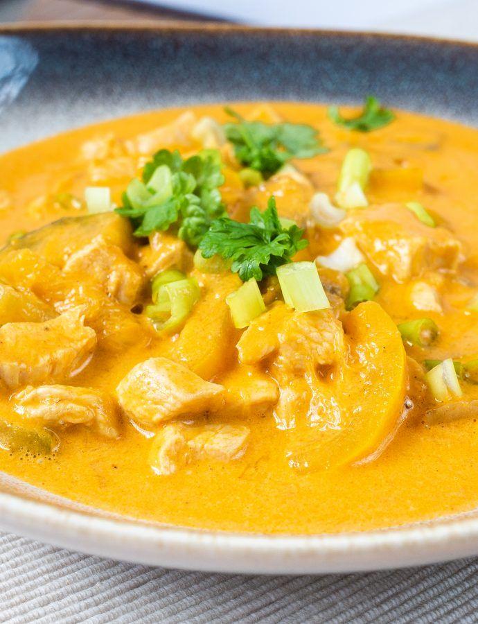 Bezglutenowe curry z warzywami i kurczakiem