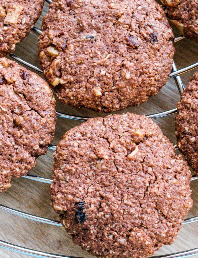 Kakaowe ciasteczka owsiane bez glutenu