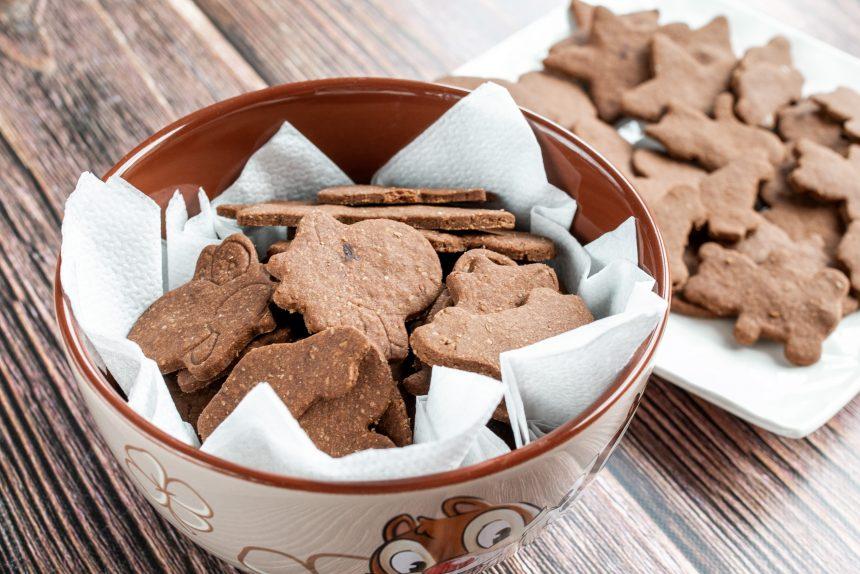 Bezglutenowe kruche ciasteczka kakaowe