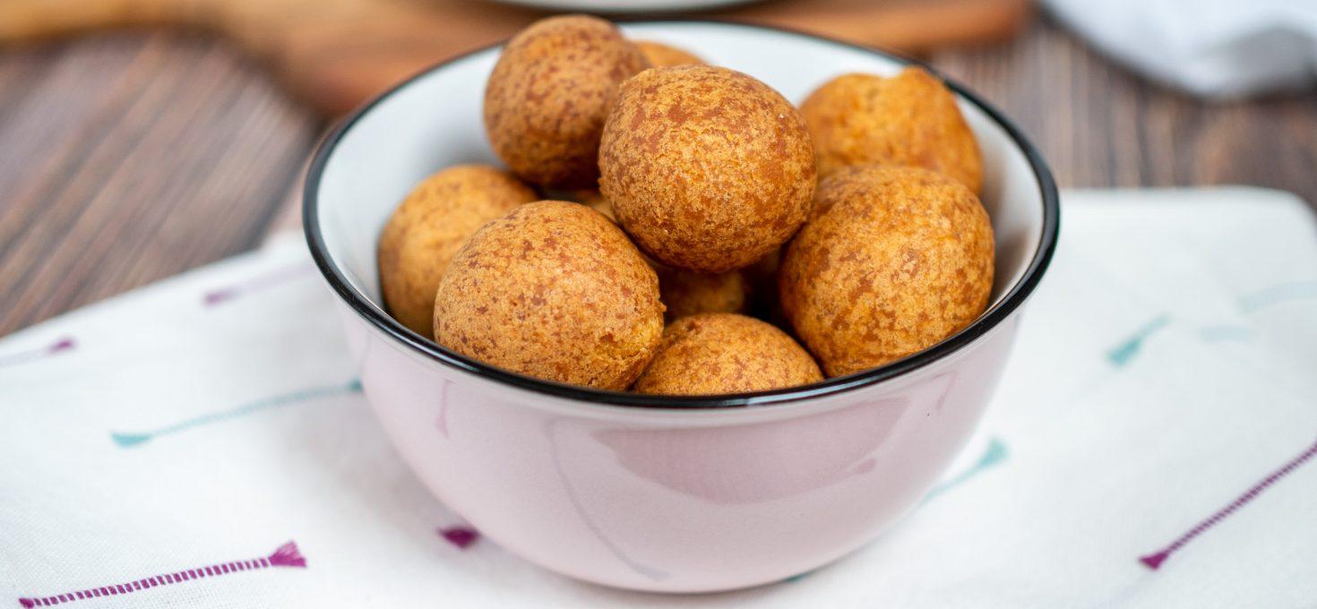 Wegańskie pączki z batatów bez glutenu