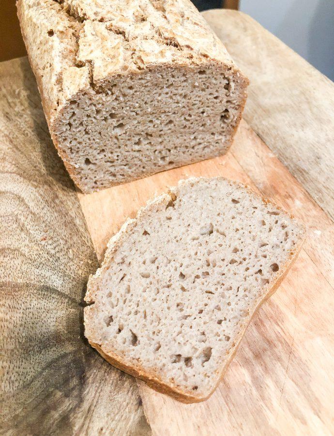 Bezglutenowy chleb gryczano ryżowy na zakwasie