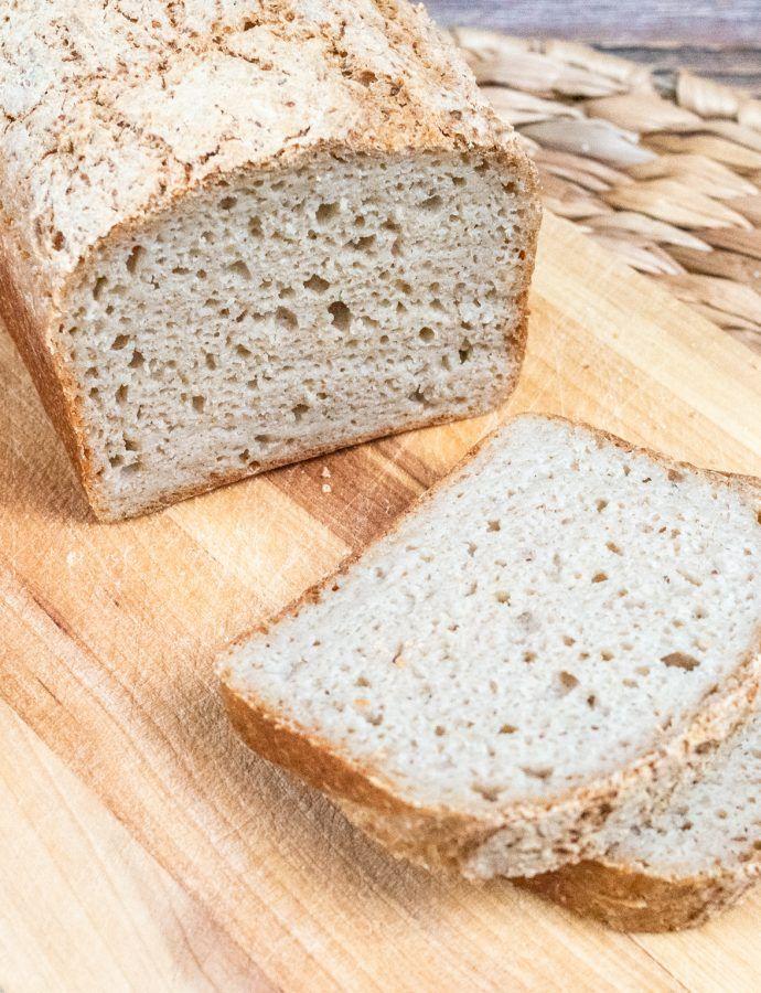Bezglutenowy chleb owsiano gryczany na zakwasie