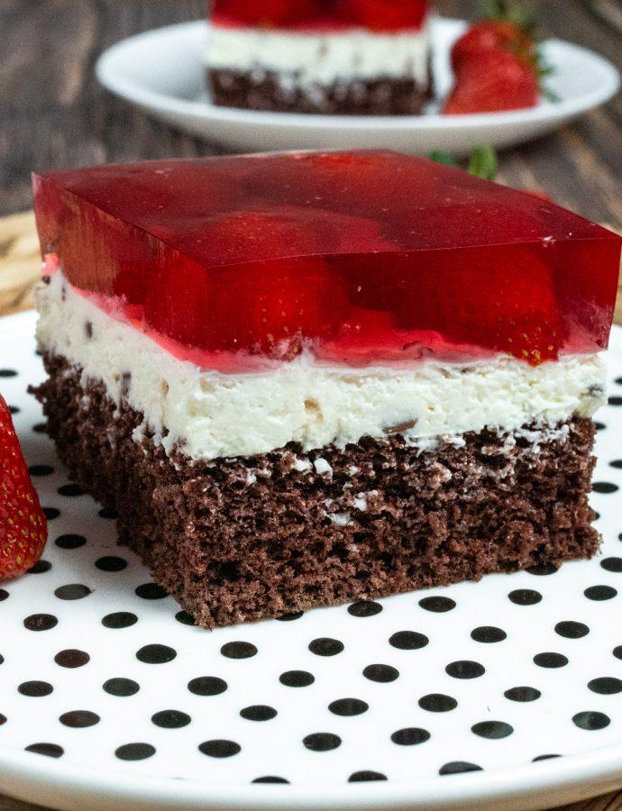 Ciasto straciatella z galaretką (bez glutenu)