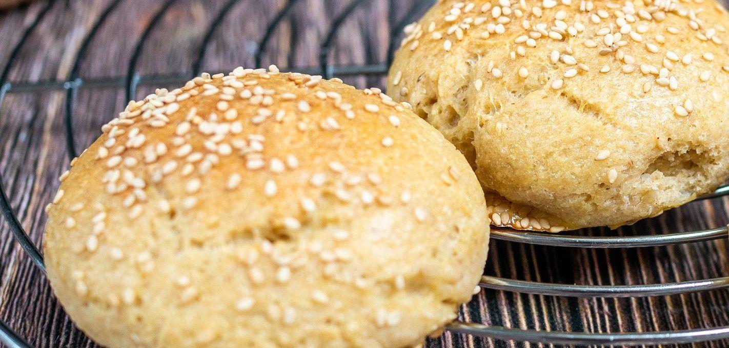 Bułki hamburgerowe na zakwasie (bez glutenu)