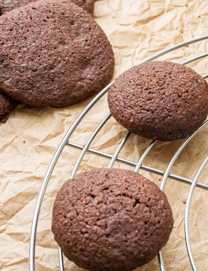 Ciasteczka mocno kakaowe (bez glutenu)