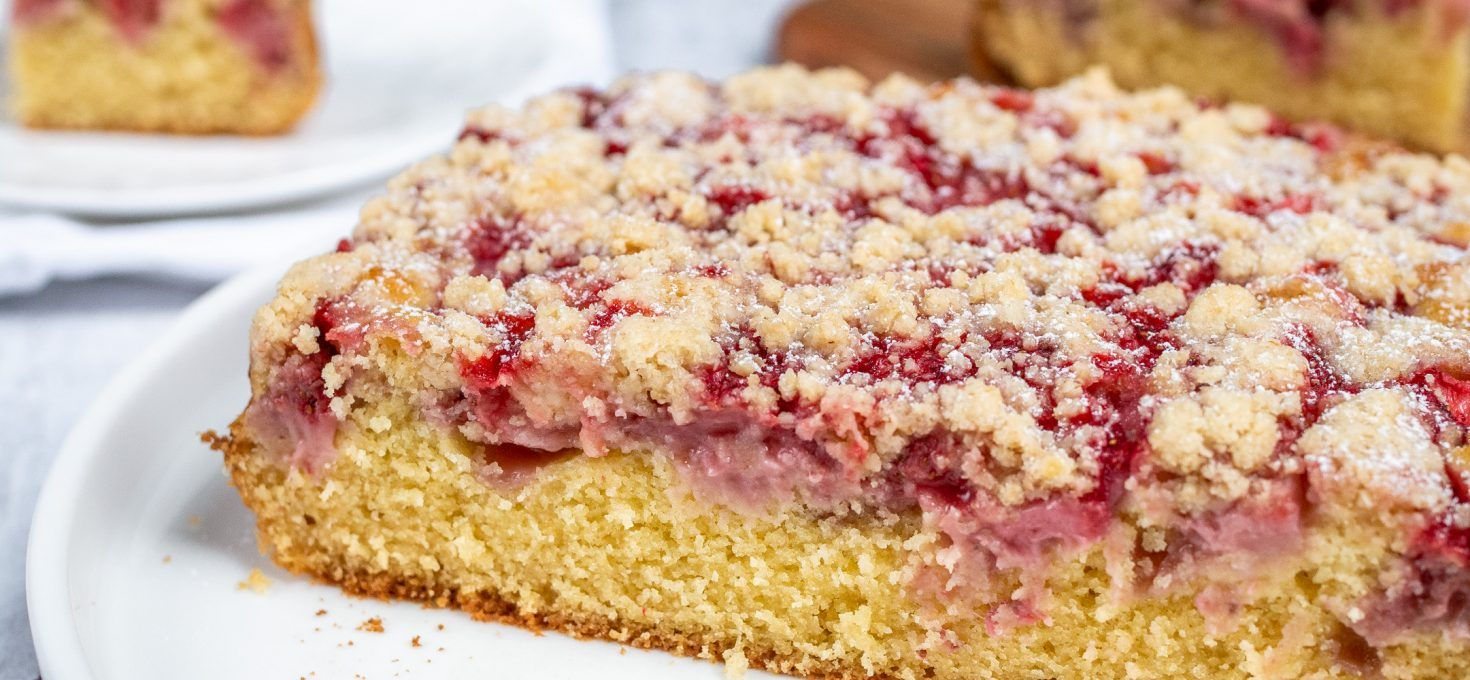 Ucierane ciasto z truskawkami (bez glutenu)