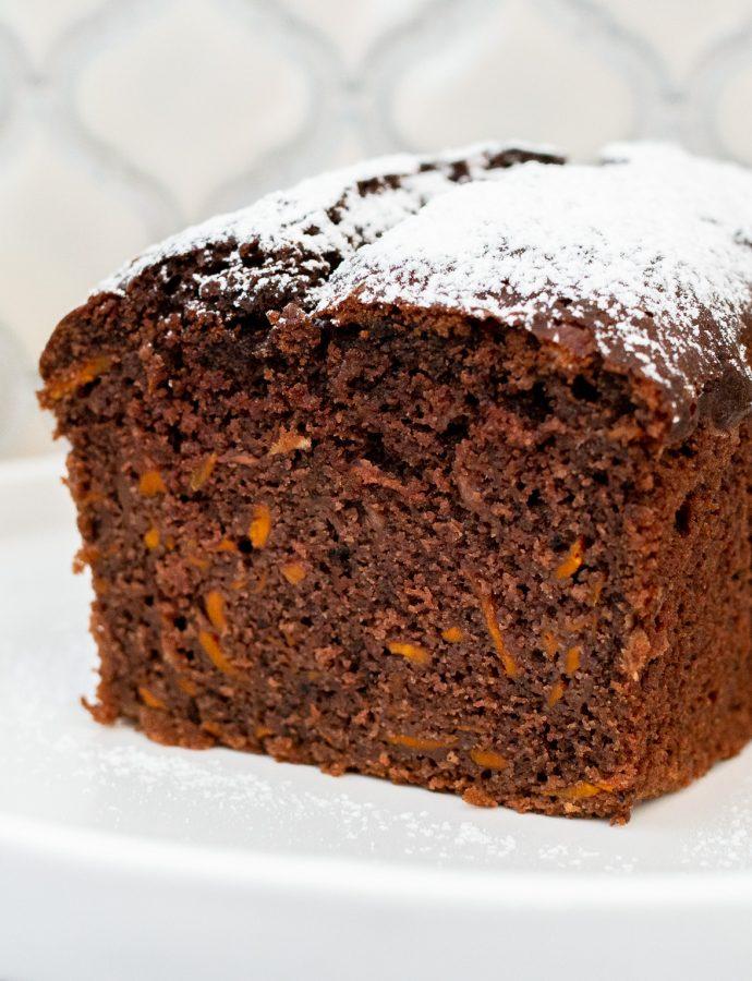 Bezglutenowa babka kakaowa z marchewką