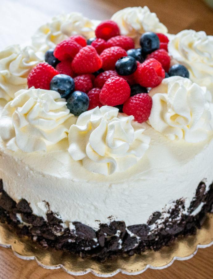 Bezglutenowy tort Oreo