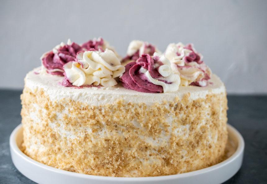 Bezglutenowy tort porzeczkowy