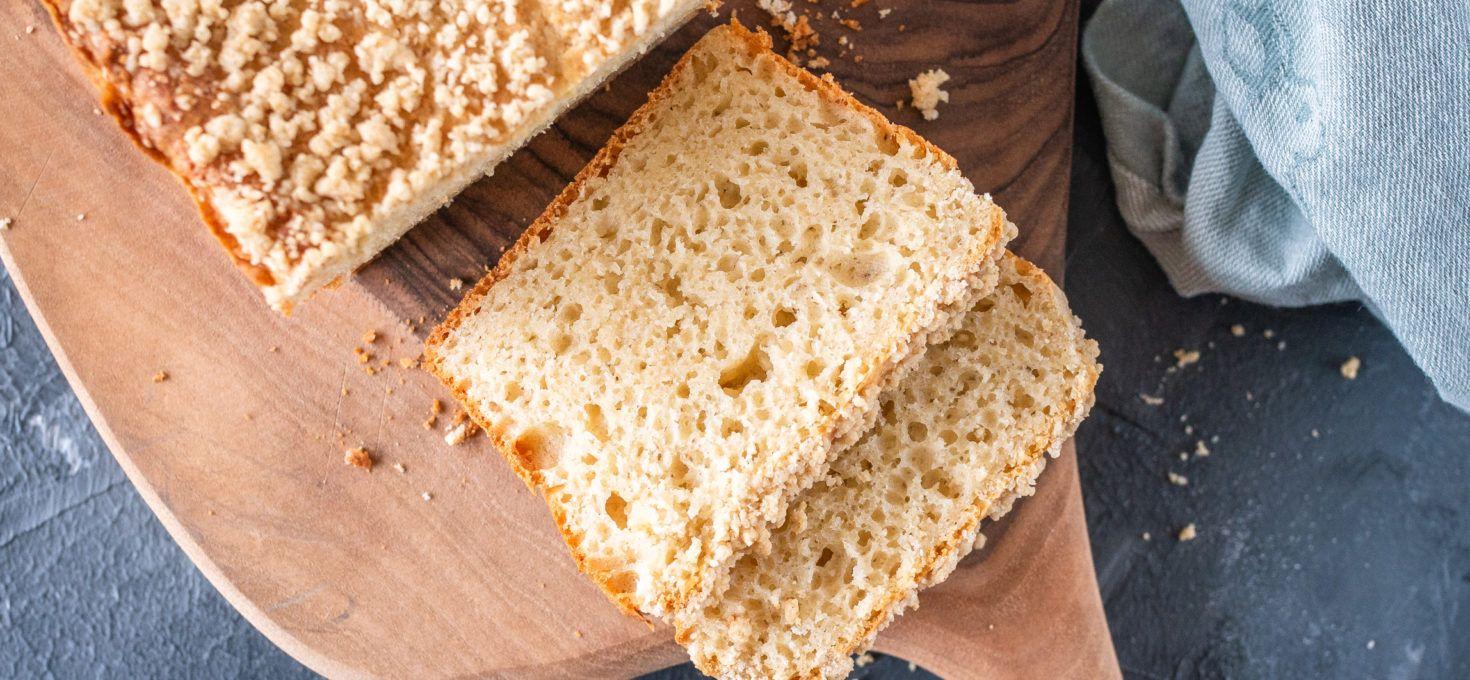 Ciasto drożdżowe z kruszonką bez glutenu