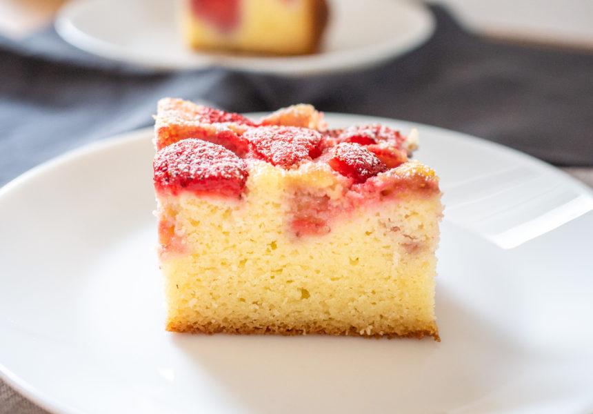 Ciasto z ricottą i truskawkami bez glutenu